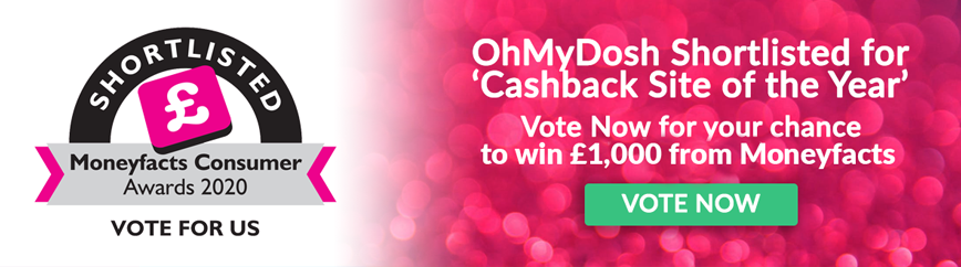 Moneyfacts Consumer Awards 2020 'Cashback Site Of The Year' Nomination